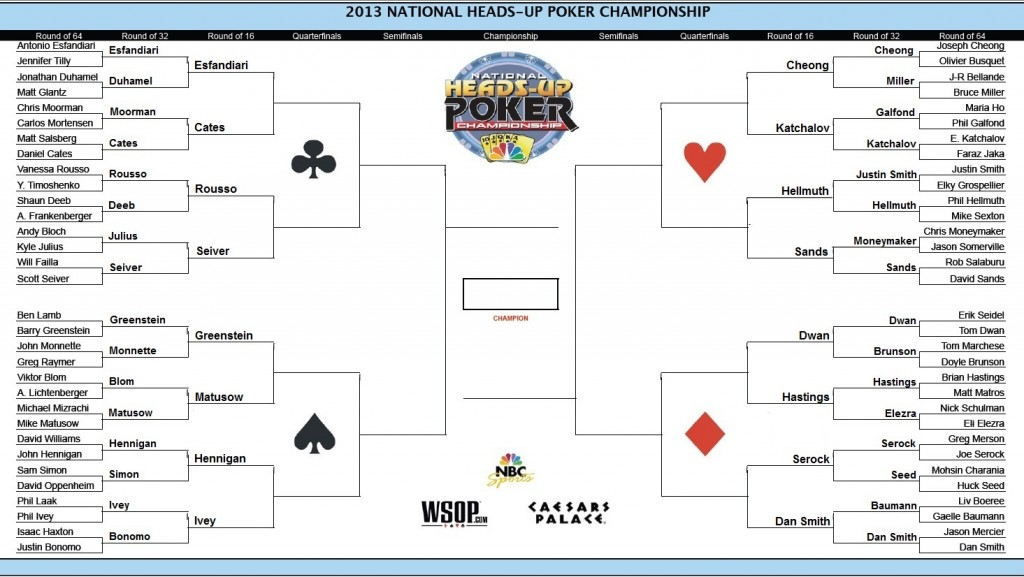 NBC National Heads-Up Poker Championship -- Round of 32 & 16 105