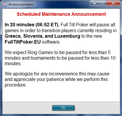Turbo zprávy: FullTiltPoker.eu spuštěn, Jason Rivkin vítězem Parx Big Stax 300 101