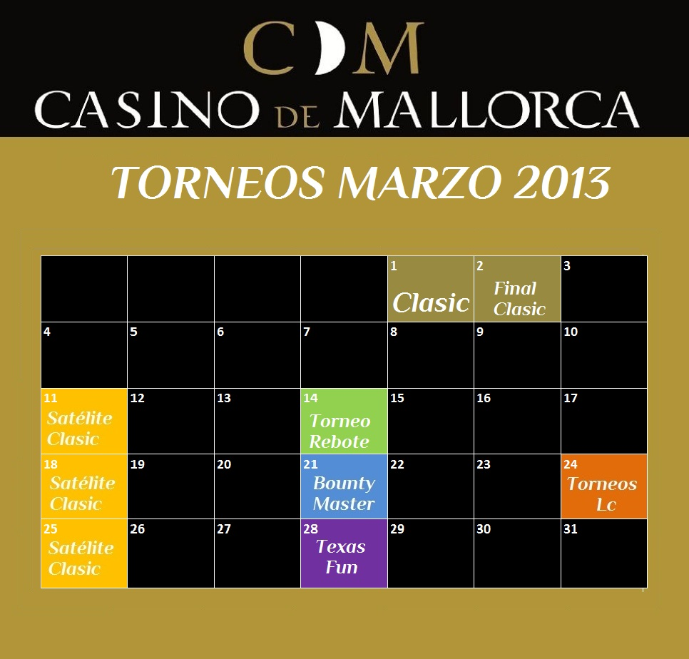 Torneo de poker casino mallorca hollywood park casino poker