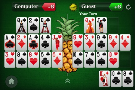 Spice Up Your Open-Face Chinese Poker Game by Adding a Pineapple Twist 110