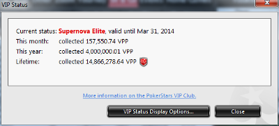371 Players Reach Supernova Elite Status at PokerStars in 2013 101