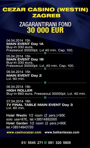Balkan Texas Poker Tour Event u Zagrebu Igra se od 4-7. Aprila 102
