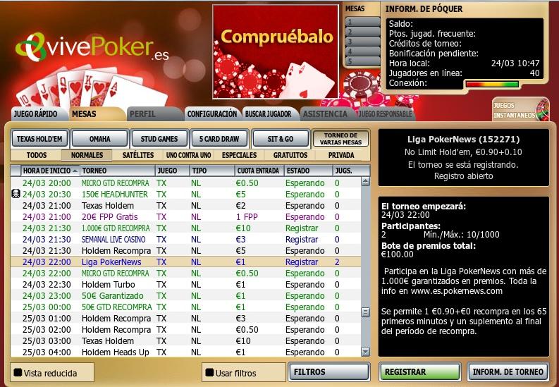 Hoy a las 22.00, puesta de largo de la Liga VivePoker PokerNews 101