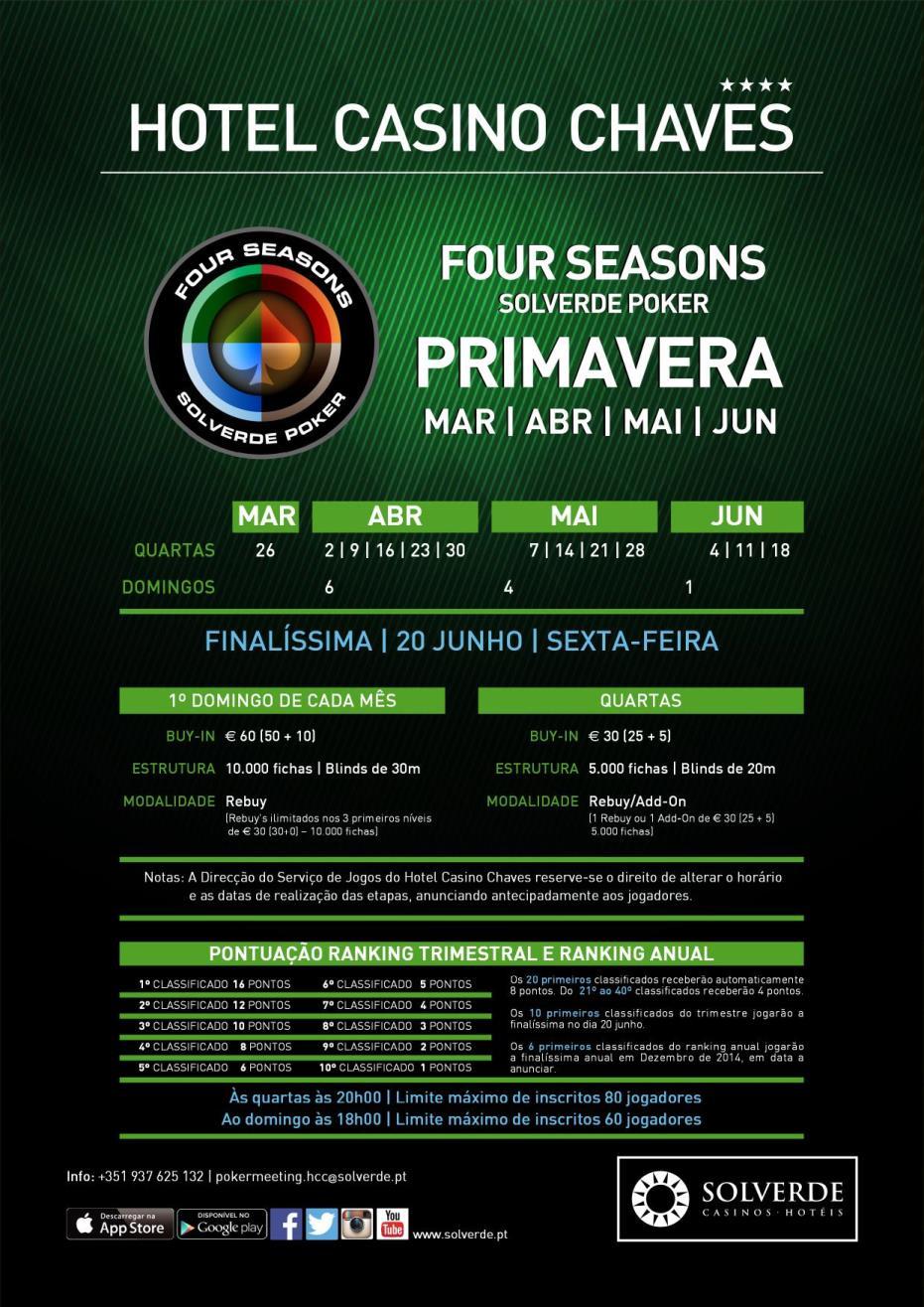 Arranca Amanhã a Four Seasons Primavera no Casino de Chaves 101
