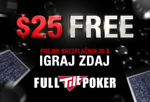 Brezplačnih 25$ na FullTilt Poker