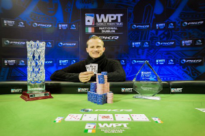 Simon Deadman after winning WPT National Dublin