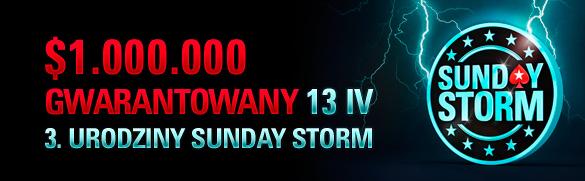 Hasło do specjalnego freeroll'a PokerNews z okazji Sunday Storm 3rd Anniversary! 101