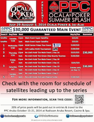 PPC Poker Tour Adds 10th Florida Stop in Season 2; Heading to Ocala in July 101