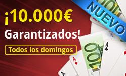 ¡10.000€ garantizados todos los domingos en VivePoker! 101
