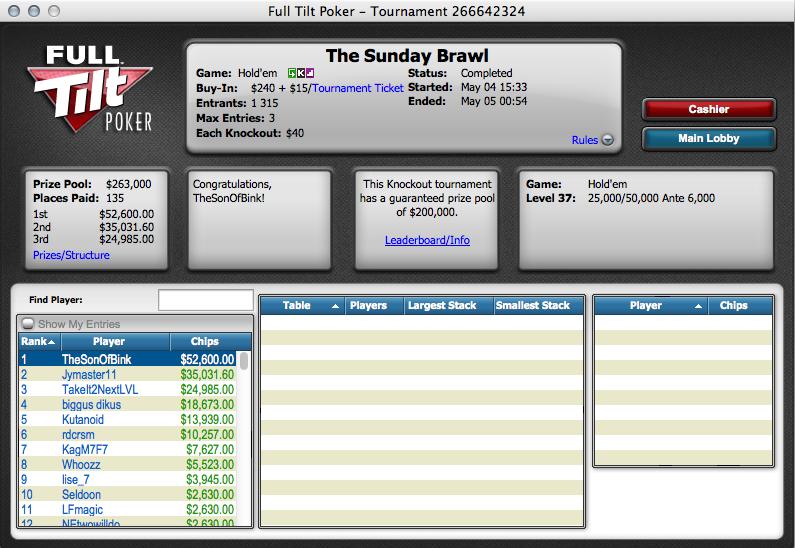 Noite de Sonho na Full Tilt Poker: 0,000 a Caminho de Portugal 101