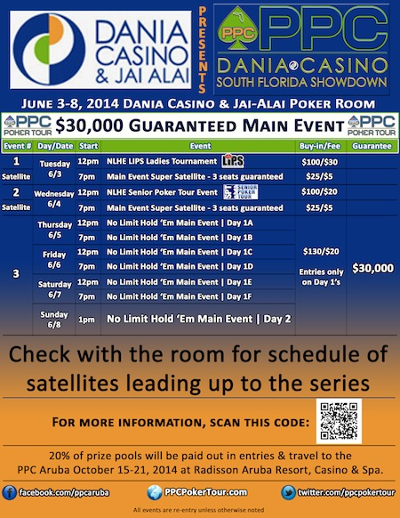 Dania Casino & Jai Alai to Host PPC South Florida Showdown from June 3-8, 2014 101