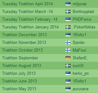 Täna algab Paf Tuesday Triathlon mai arvestus 101