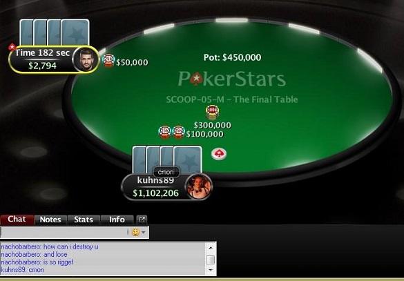 Nervinės įtampos neatlaikęs PokerStars Pro komandos narys pralošė dvikovą dėl SCOOP... 101
