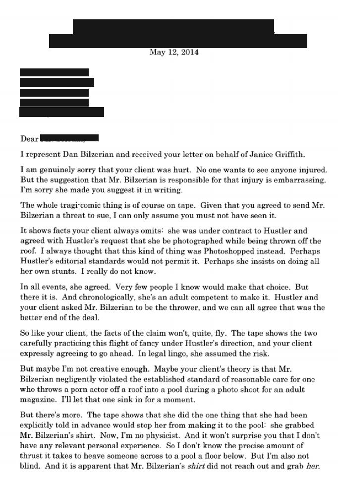 EXKLUZIVNĚ: Dopis, který poslal právník Dana Bilzeriana pornoherečce, kterou... 101
