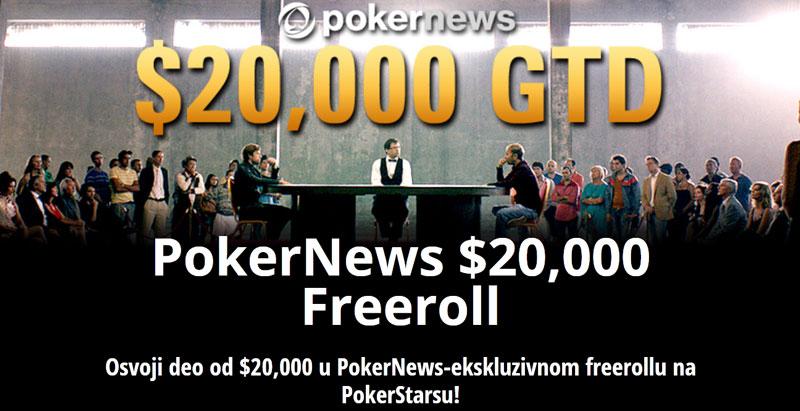 Ekskluzivan $20.000 Freeroll na PokerStarsu
