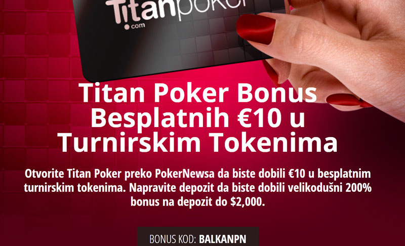 Titan Poker Bonus Besplatnih €10 u Turnirskim Tokenima