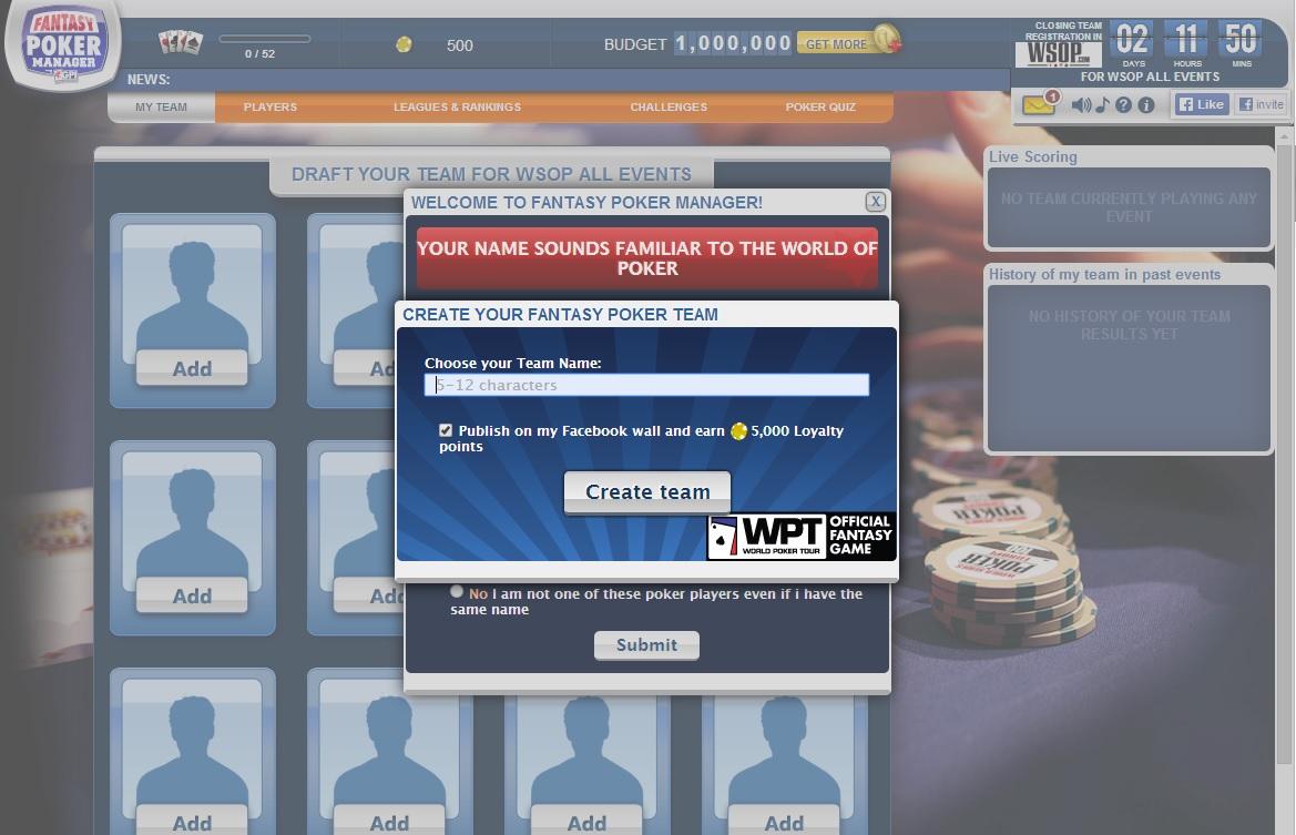 ¿Cómo te va en nuestra Fantasy League de las WSOP? 101