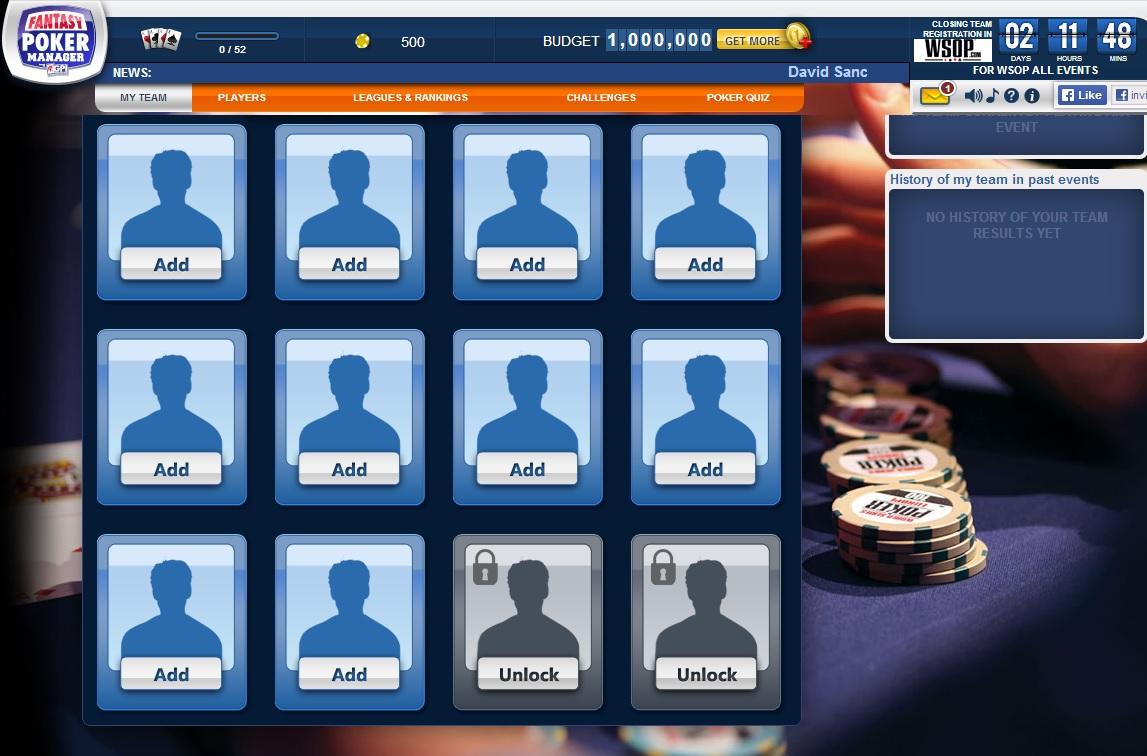 ¿Cómo te va en nuestra Fantasy League de las WSOP? 102