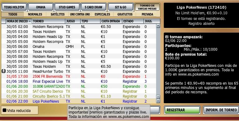 Novedades de la Liga VivePoker PokerNews para junio 101