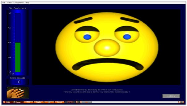 Biofeedback screen