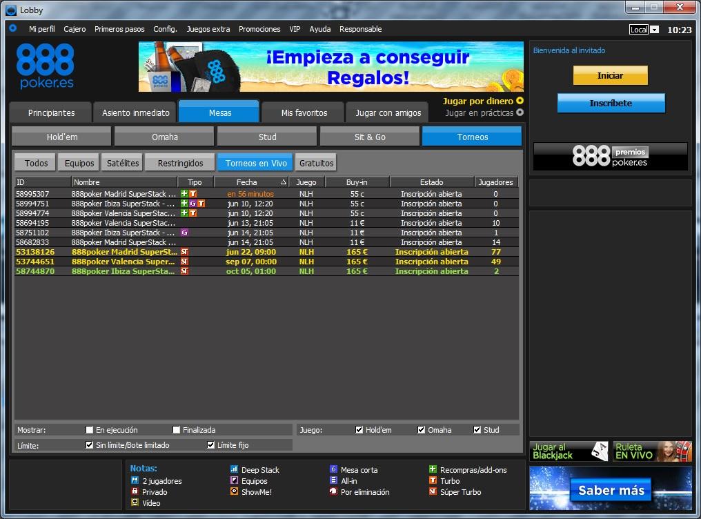 ¡Juega el Circuito SuperStack de 888poker.es por 55 céntimos! 101