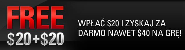 Odbierz darmowe $40 od PokerStars!