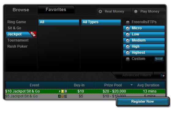 Обикновени Full Tilt Jackpot Sit$Go турнири, в които обаче си... 101