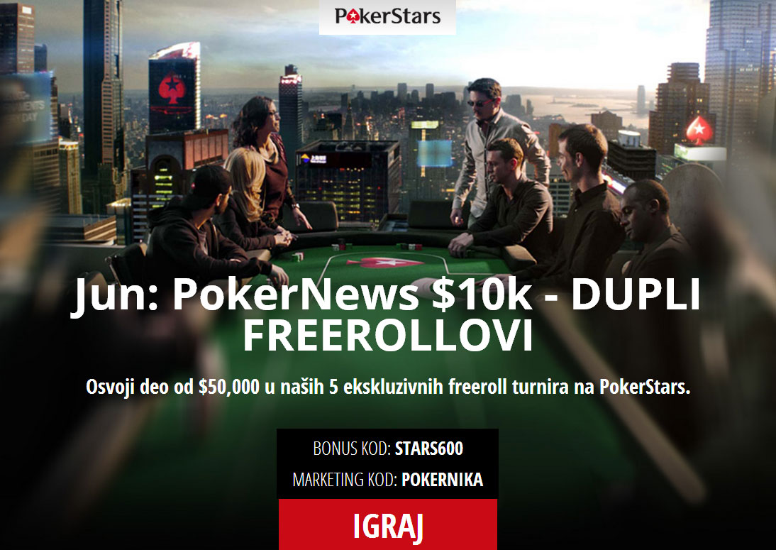 Jun: PokerNews $10k - DUPLI FREEROLLOVI