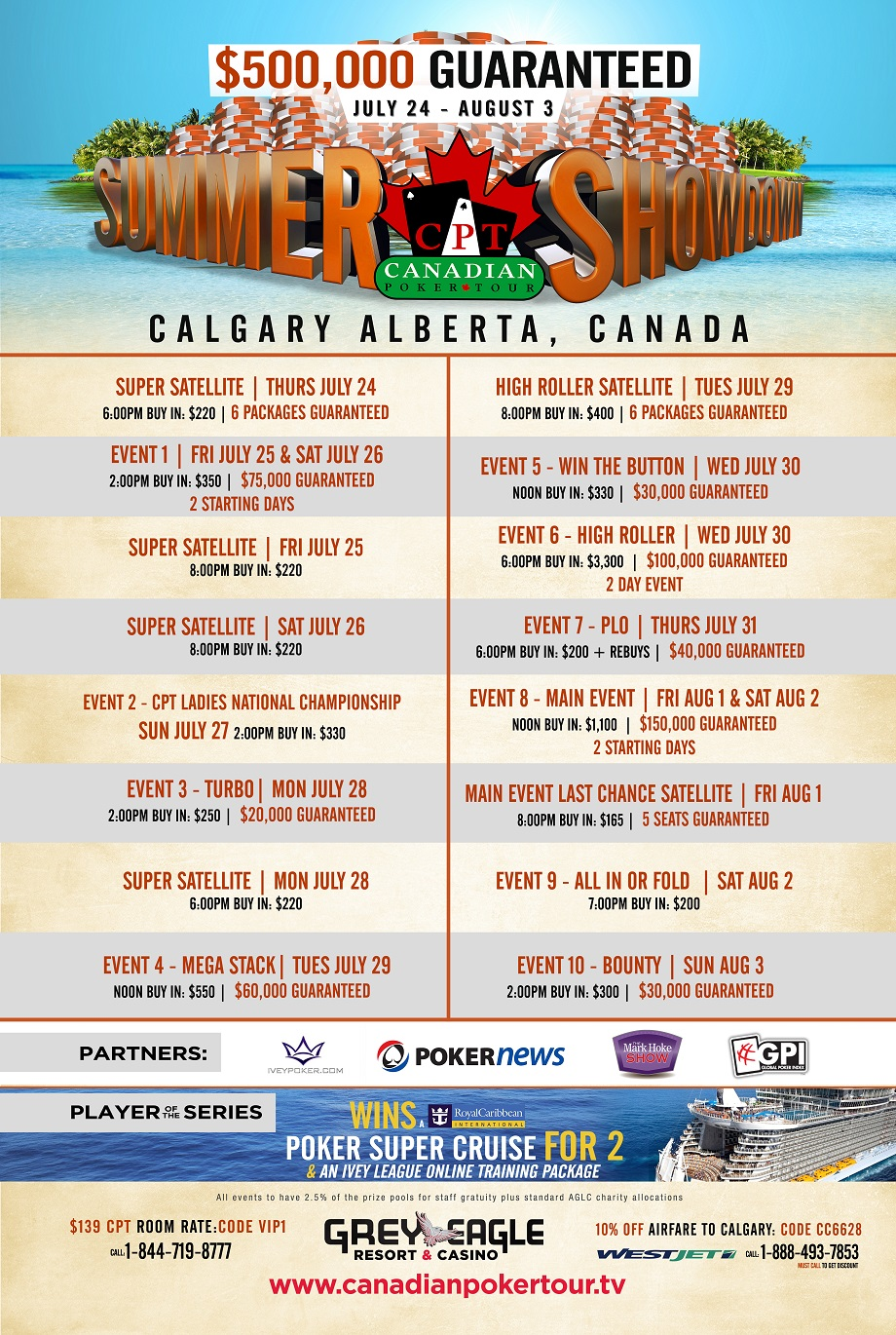 CPT Summer Showdown: Biggest Poker Series Guarantee Alberta Has Ever Seen 101