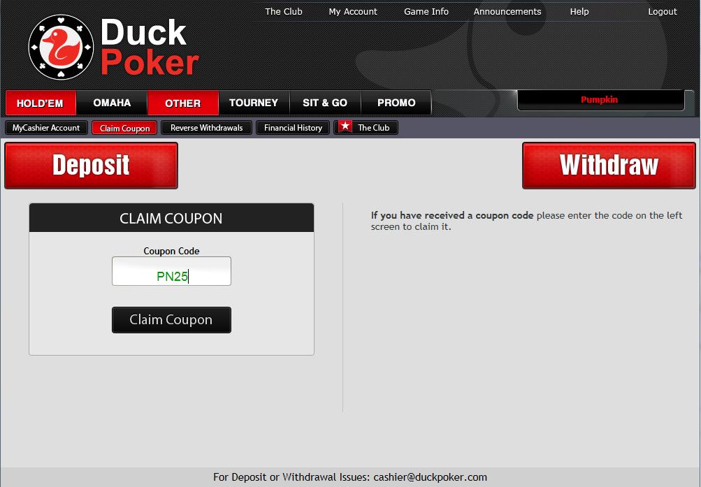 Нови фрийроли в Duck Poker и  бонус в турнирни долари 101