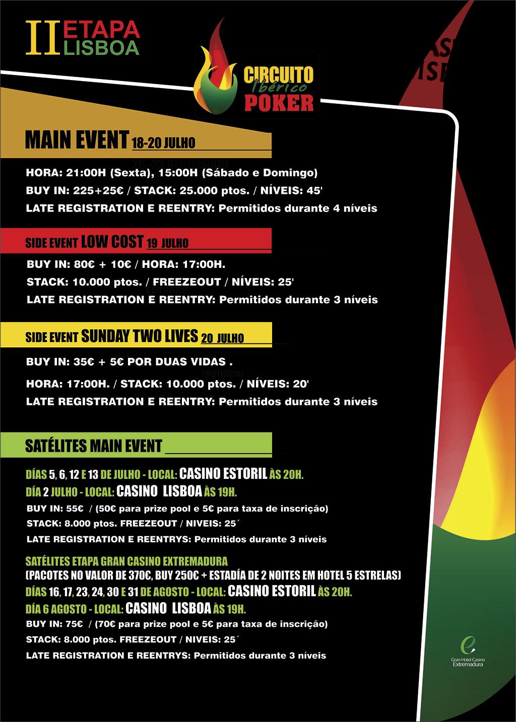 2ª Etapa Circuito Ibérico de Poker - Casino Lisboa 18 a 20 de Julho 101