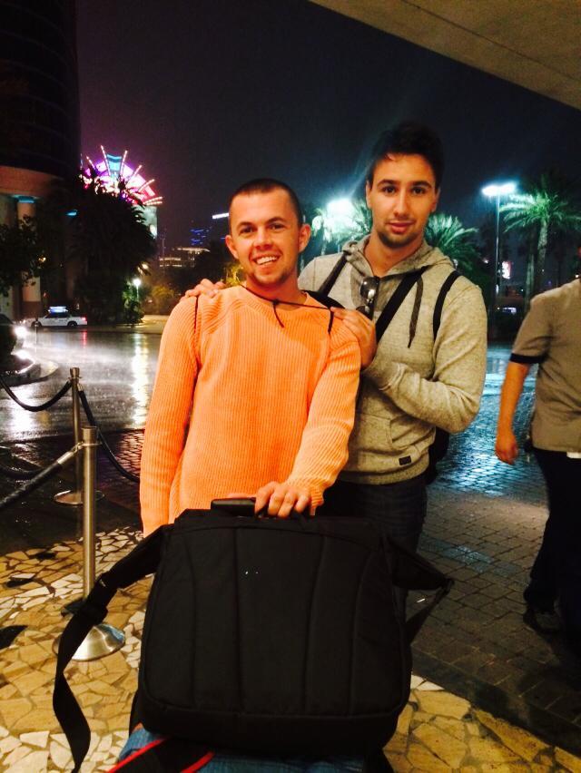 Dejan Divković i Alen Bilić iz Bosne i Hercegovine u Las Vegasu tokom 2014 WSOP 108