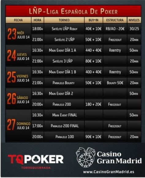 Comienza en Málaga la segunda Etapa de la Liga Española de Póker (LÑP) 101