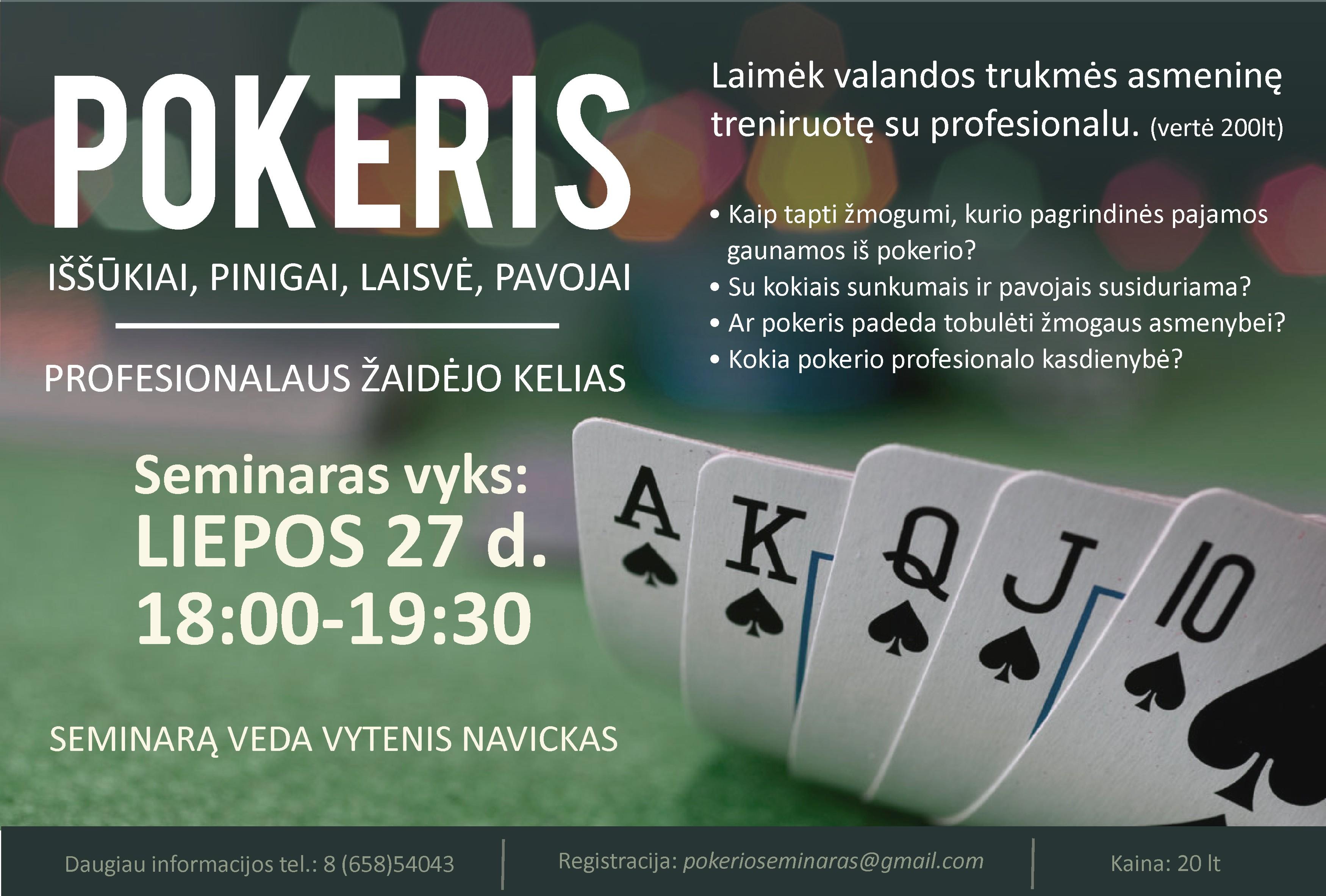 Išskirtinis pokerio seminaras Kaune (Interviu su seminaro vedėju) 101