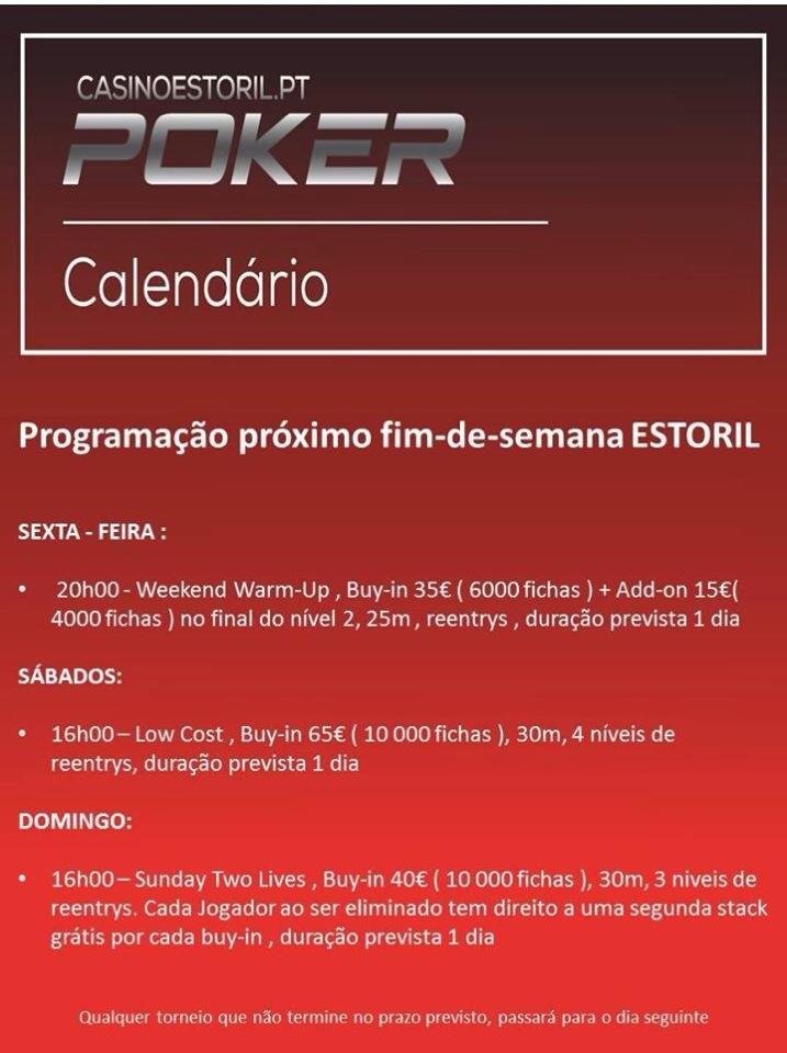 Programação do Fim de Semana no Casino do Estoril 101
