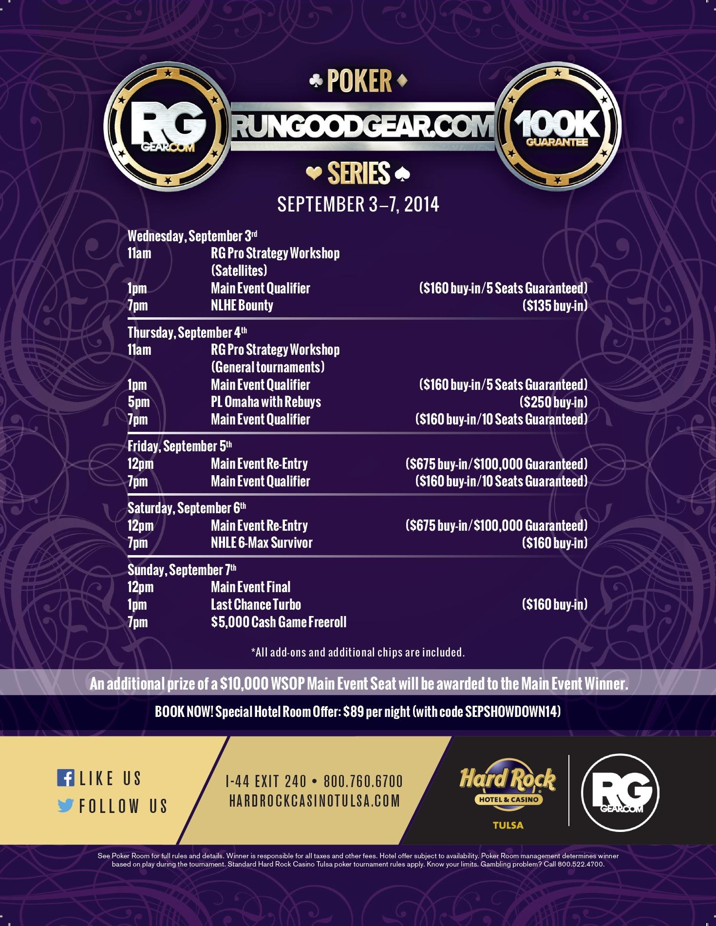 Don't Miss the RunGoodGear.com Poker Series at Hard Rock Tulsa Sept. 3-7! 101