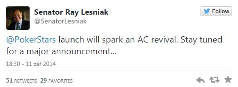 Páté kasíno v Atlantic City zavírá, senátor Lesnik chce do AtlanticCity Pokerstars 101