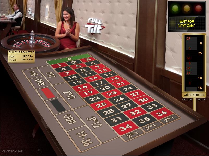 Full Tilt pristatė kazino žaidimus su gyvu dalintoju 101