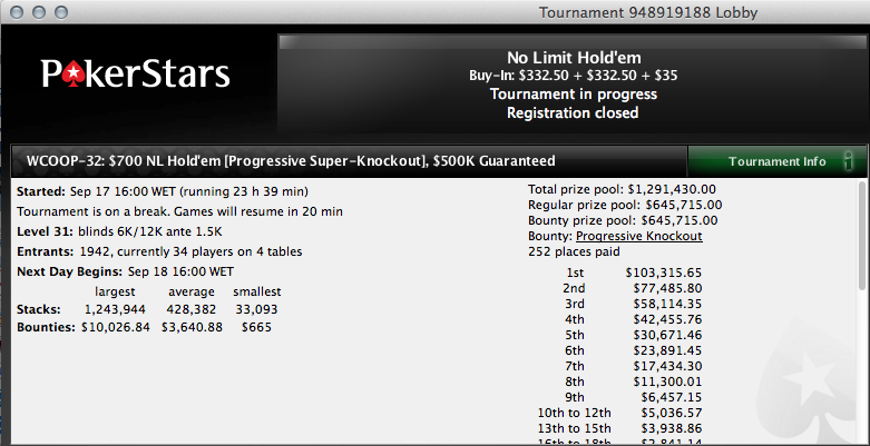 Continuamos a Procurar o Big Hit no WCOOP - flotheguts no Dia 2 do Evento #32 103