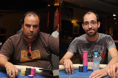 Elton Martins, Ricardo Faria e Bruno Leote na FT do Deep Stack Tanger 101