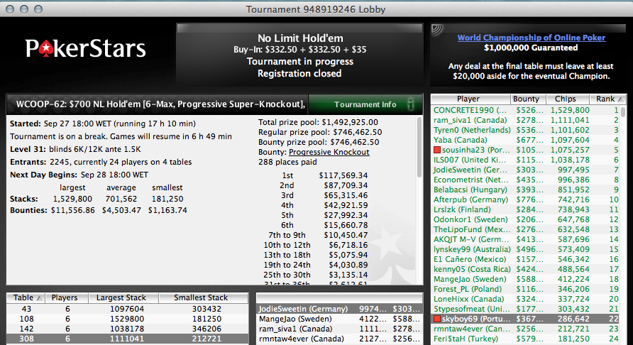 Skyboy e Sousinha no Dia 2 do WCOOP #62 - 7k Up Top! 101