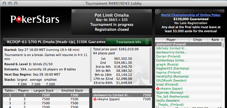 Skyboy e Sousinha no Dia 2 do WCOOP #62 - 7k Up Top! 102