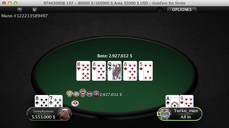Luís Rodríguez aprovecha la noche más grande del poker online 102