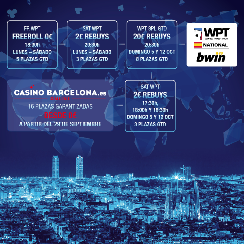 Juega el World Poker Tour Barcelona con Pokernews 101
