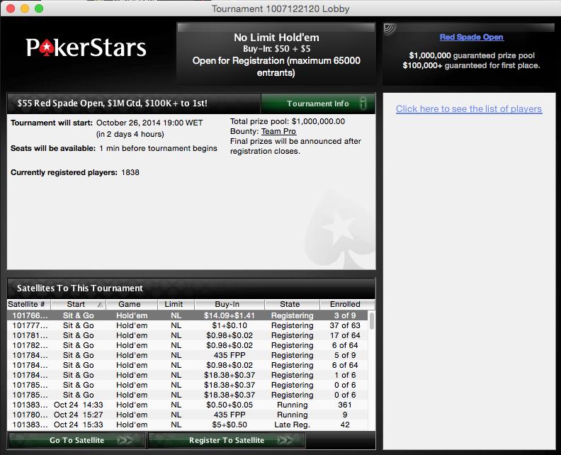 Red Spade Open - ,000,000 Garantido este Domingo na PokerStars 101