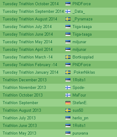 Paf Tuesday Triathlon kuuarvestuse on neli eestlast võitnud kaks korda 101