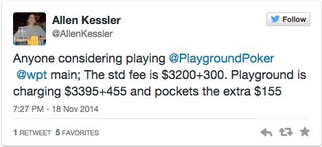 """""""Não gostas não jogues aqui!"""", foi o que disse o Playground Poker a Allen Kessler 101"""