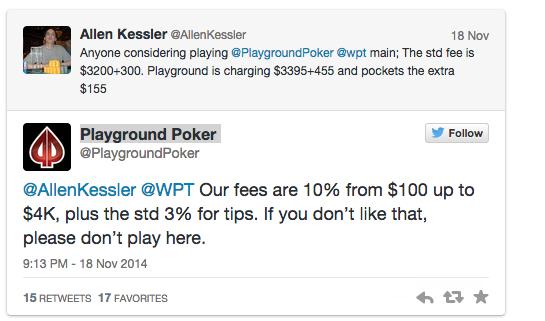 """""""Não gostas não jogues aqui!"""", foi o que disse o Playground Poker a Allen Kessler 102"""