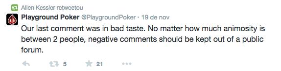 """""""Não gostas não jogues aqui!"""", foi o que disse o Playground Poker a Allen Kessler 103"""