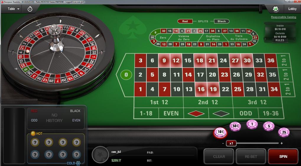 PokerStars rulett